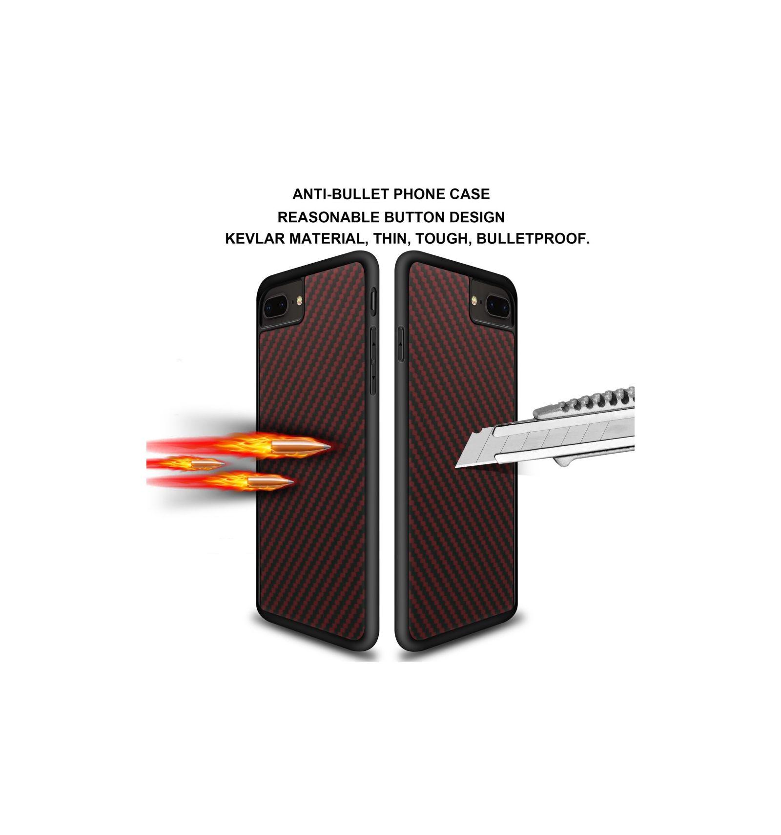 iphone 8 plus 7 plus coque kevlar series rouge