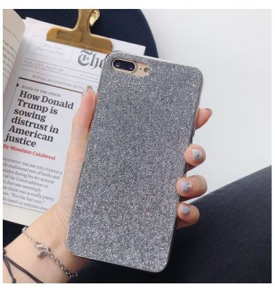 iPhone 8 Plus / 7 Plus  - Coque strass glamour - Argent