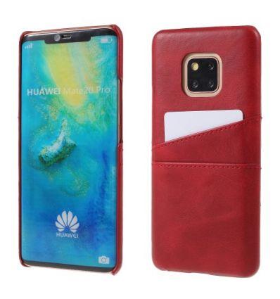 Huawei Mate 20 Pro - Coque rigide revêtement cuir porte-cartes