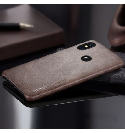 Xiaomi Redmi Note 6 Pro - Coque cuir vintage series - Marron