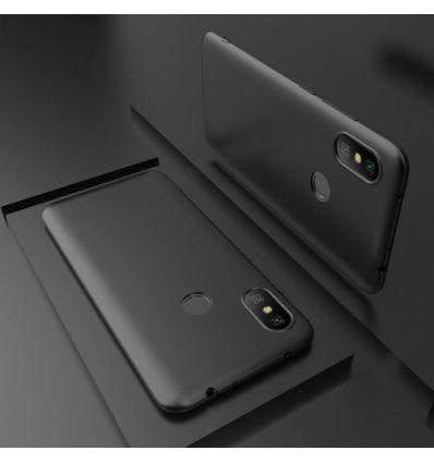 Xiaomi Redmi Note 6 Pro - Coque ultra mince revêtement mat - Noir