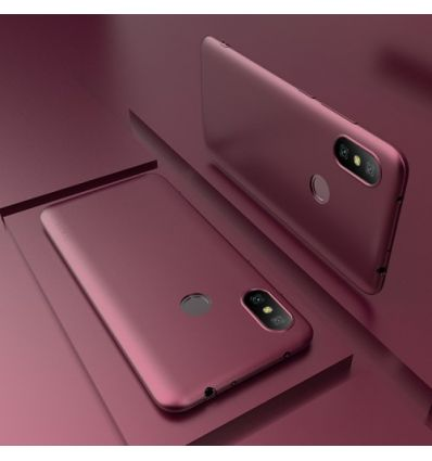 Xiaomi Redmi Note 6 Pro - Coque ultra mince revêtement mat - Vin rouge