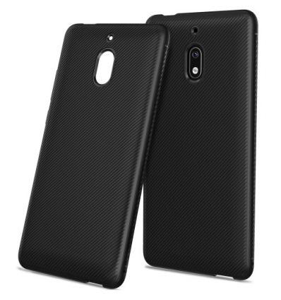 Nokia 2.1 - Coque gel silicone effet armure - Noir