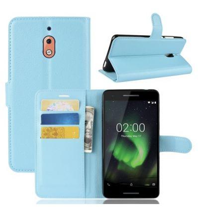 Nokia 2.1 - Housse style cuir porte-cartes