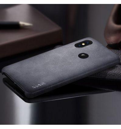 Xiaomi Redmi Note 6 Pro - Coque cuir vintage series - Noir