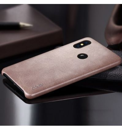Xiaomi Redmi Note 6 Pro - Coque cuir vintage series - Marron clair