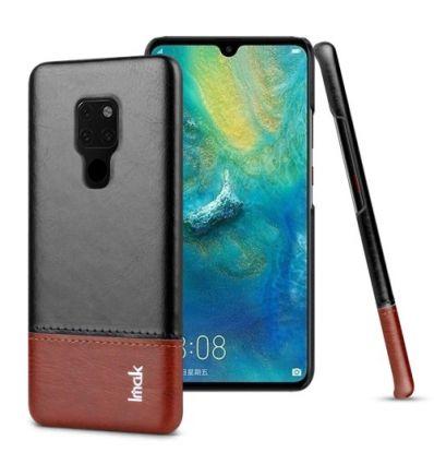 Huawei Mate 20 - Coque imak imitation cuir - Noir / Marron