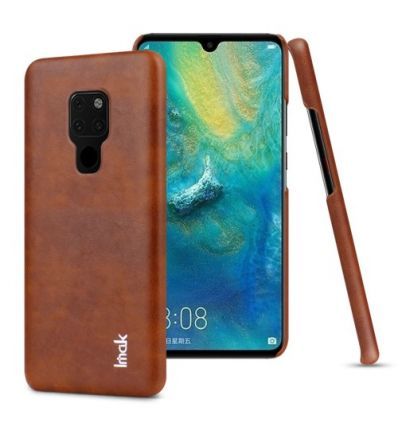 Huawei Mate 20 - Coque imak imitation cuir - Marron