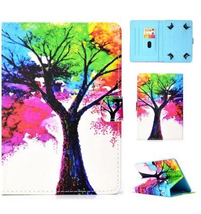 Housse universelle pour tablette 10 pouces arbre coloré