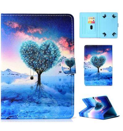Housse universelle pour tablette 10 pouces arbre en coeur