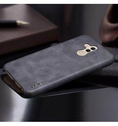 Huawei Mate 20 Lite - Coque cuir vintage series - Noir