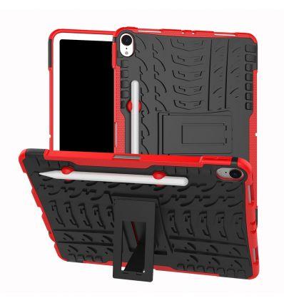 iPad Pro 11 pouces - Coque antidérapante avec support intégré - Rouge
