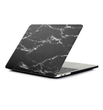 MacBook Air 13 pouces 2018 - Coque imprimée marbre - Noir / Blanc