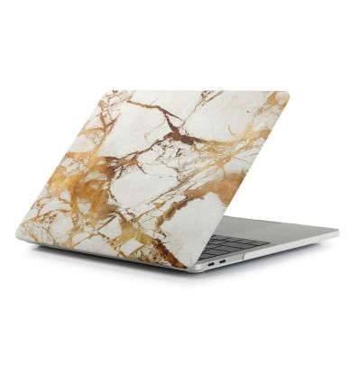 MacBook Air 13 pouces 2018 - Coque rigide marbre - Or