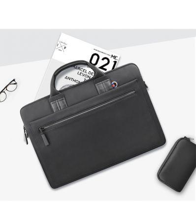 Sacoche Athena en nylon pour ordinateur 15 pouces - Noir