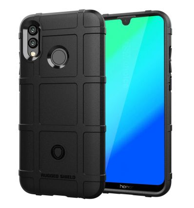 Honor 10 Lite - Coque protectrice square grid - Noir