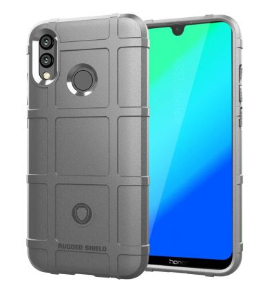 Honor 10 Lite - Coque protectrice square grid - Gris