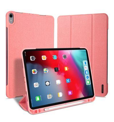 """iPad Pro 11"""" 2018 - Étui premium effet toile - Rose"""