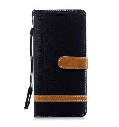 Samsung Galaxy Note 9 - Housse revêtement tissu porte-cartes