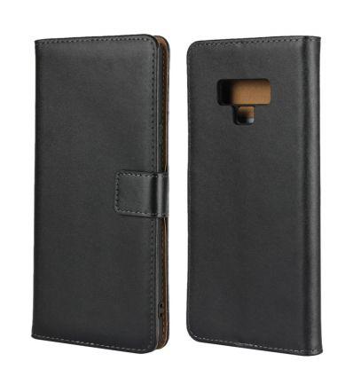 Étui à rabat en cuir pour Samsung Galaxy Note 9