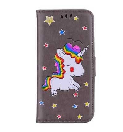 Samsung Galaxy Note 9 - Housse portefeuille licorne paillettes