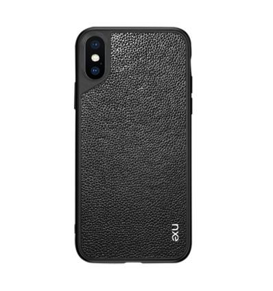 iPhone XS Max - Coque Leather Coated - Noir
