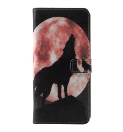 Nokia 5.1 - Housse porte cartes Le loup