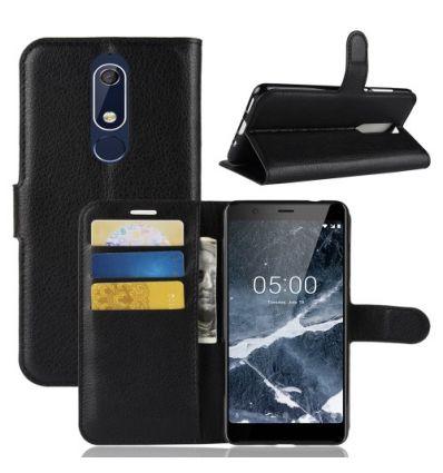 Nokia 5.1 - Housse style cuir porte cartes