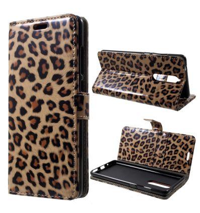 Nokia 5.1 - Housse porte cartes imprimé léopard