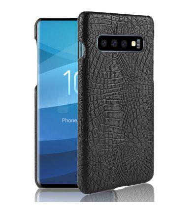 Samsung Galaxy S10 - Coque effet cuir crocodile
