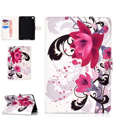 iPad Mini 4 / 3 / 2 / 1 - Housse porte cartes purple flowers