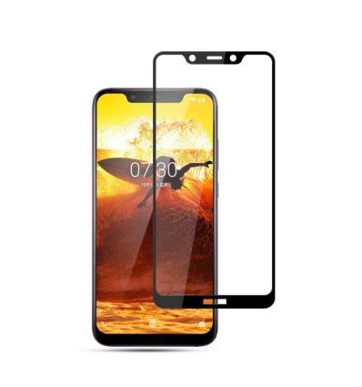 Nokia 8.1 - Protection d'écran en verre trempé Full Size - Noir
