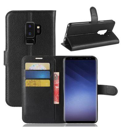 Samsung Galaxy S9 Plus - Housse style cuir porte cartes