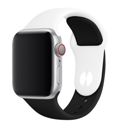 Bracelet bicolore en silicone Apple Watch 40mm - 38mm