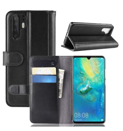 Huawei P30 Pro - Housse cuir premium porte cartes