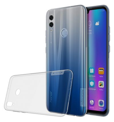 Coque Huawei P Smart 2019 gel nature transparent gris