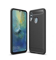 Huawei P Smart 2019 - Coque gel brossé carbone