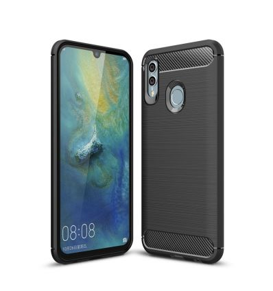 Honor 10 Lite - Coque gel brossé carbone