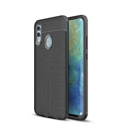 Coque Huawei P Smart 2019 gel finition simili cuir