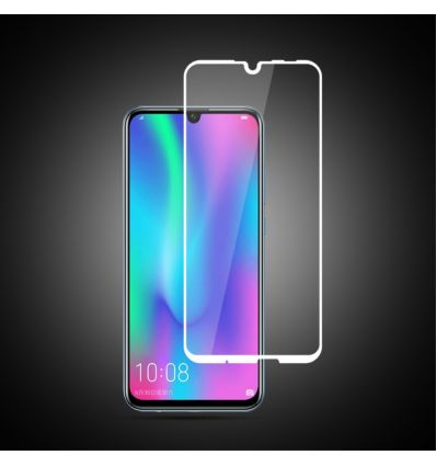 Huawei P Smart 2019 - Protection d'écran en verre trempé Full Size - Blanc