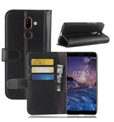 Nokia 7 Plus - Étui en cuir premium porte cartes