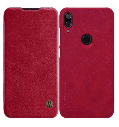 Housse Xiaomi Mi Play NILLKIN Qin revêtement cuir - Rouge