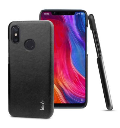 Coque Xiaomi Mi 8 imak imitation cuir - Noir