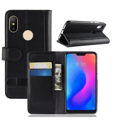 Xiaomi Mi A2 Lite - Étui en cuir premium porte cartes