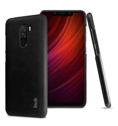 Coque Xiaomi Pocophone F1 imak imitation cuir - Noir