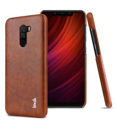 Coque Xiaomi Pocophone F1 imak imitation cuir - Marron