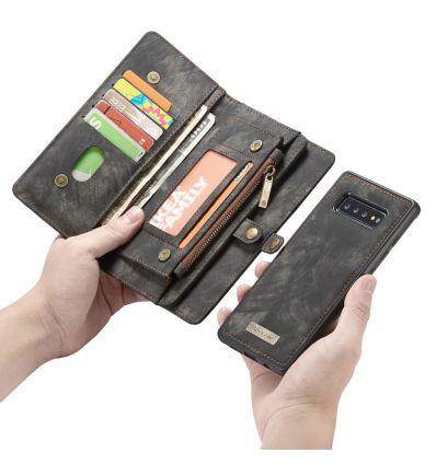 Samsung Galaxy S10 - Coque et étui portefeuille 2-en-1 - Noir