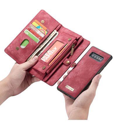 Samsung Galaxy S10 - Coque et étui portefeuille 2-en-1 - Rouge