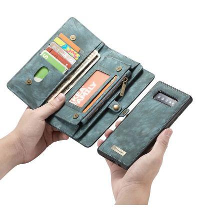Samsung Galaxy S10 - Coque et étui portefeuille 2-en-1 - Vert