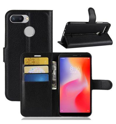Xiaomi Redmi 6 - Housse style cuir porte cartes
